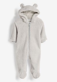 Next - ECRU COSY FLEECE BEAR PRAMSUIT (0MTHS-2YRS) - Jumpsuit - grey - 0