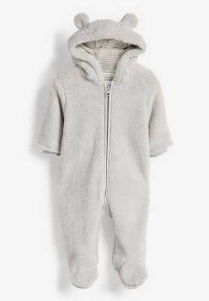 ECRU COSY FLEECE BEAR PRAMSUIT (0MTHS-2YRS) - Combinaison - grey