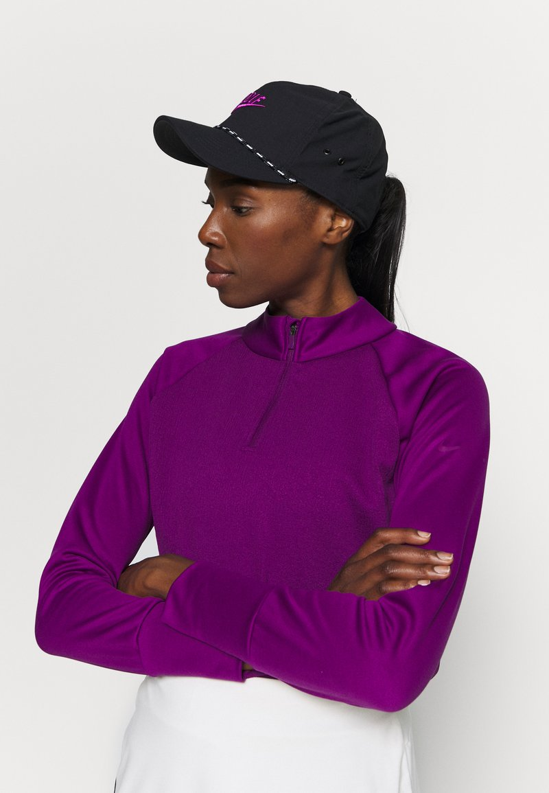 Nike Golf - AROBILL ROPE UNISEX - Kšiltovka - black/anthracite/vivid purple