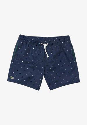 Swimming trunks - navy blau/weiß
