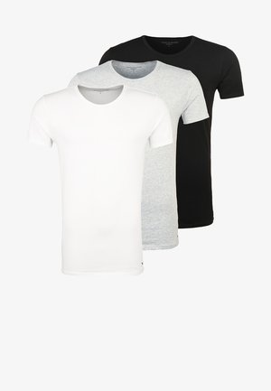 3 PACK - Camiseta interior - black/grey heather/white
