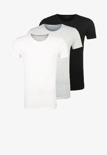 3 PACK - Tílko - black/grey heather/white