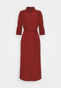 ONLY - ONLNOVA LUX 3/4 SHIRT DRESS SOLID - Day dress - brown - 0