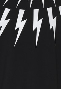 Neil Barrett - FAIR-ISLE THUNDERBOLT - Zip-up hoodie - black/white - 2