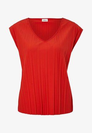 PLISSEE - T-shirt basique - burning red