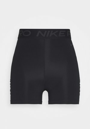 SHORT HI RISE - Punčochy - black/dark smoke grey