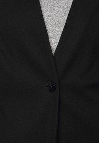 Dorothy Perkins Curve - COLLARLESS UNLINED - Classic coat - black - 5