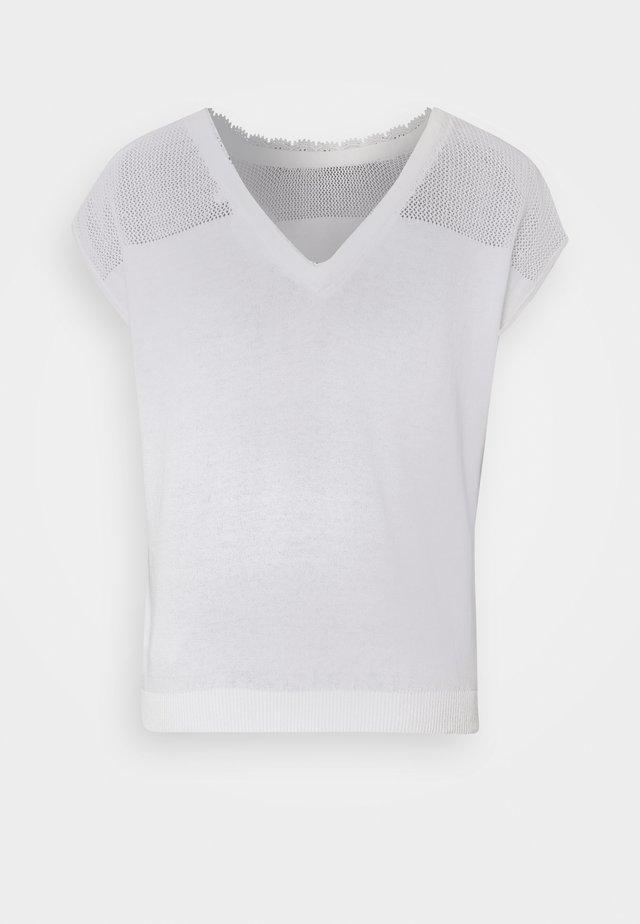 EASY - Camiseta estampada - ecru