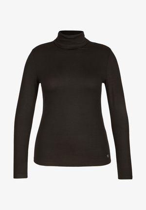 MIT UNIFARBENEM UND LANGEN ÄRMELN - Long sleeved top - schwarz