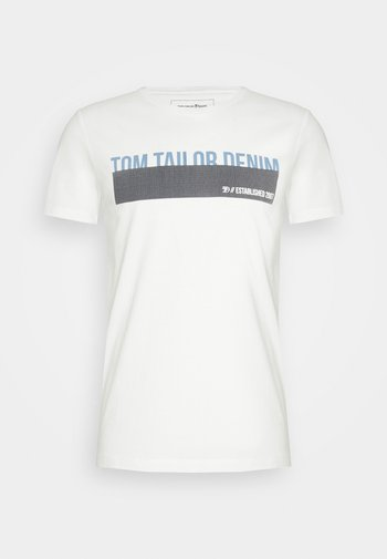 Print T-shirt - blanc de blanc white