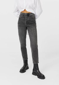 Stradivarius - Relaxed fit jeans - dark grey - 0