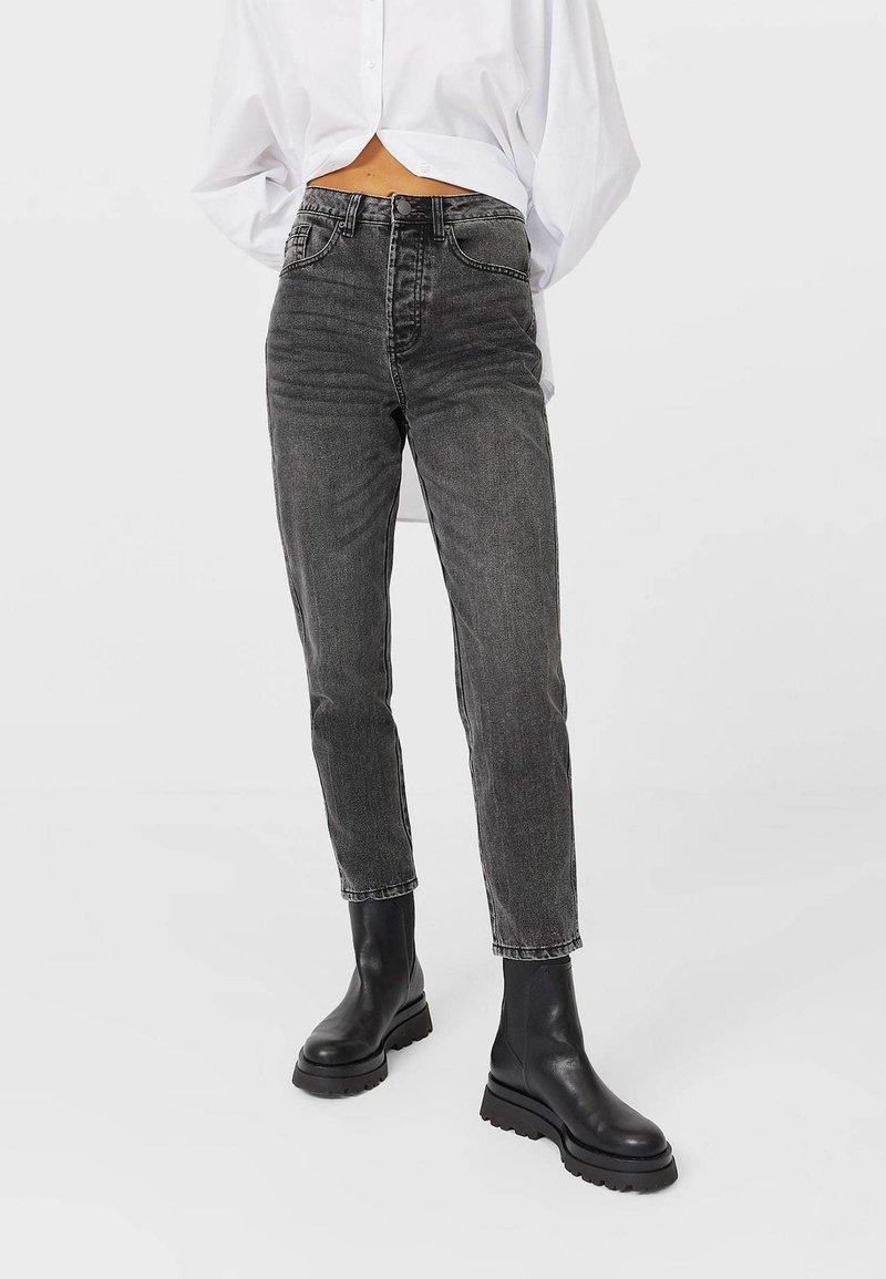 Stradivarius - Relaxed fit jeans - dark grey