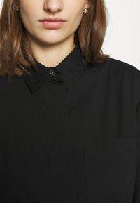 Calvin Klein - TIE CUFF SHIRT DRESS - Denní šaty - black - 7