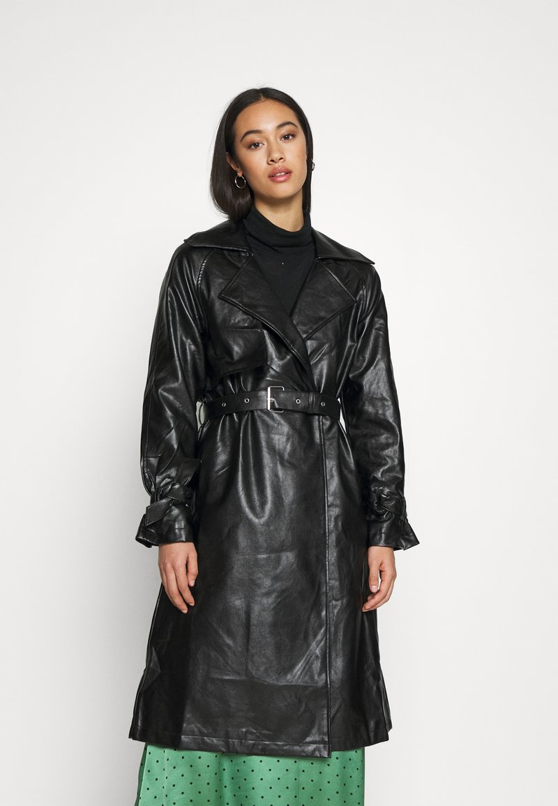 NA-KD - COAT - Trenchcoat - black