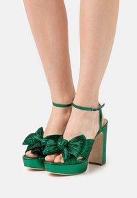 Loeffler Randall - NATALIA - Sandály na vysokém podpatku - emerald - 0