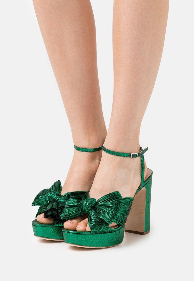 Loeffler Randall - NATALIA - Sandály na vysokém podpatku - emerald
