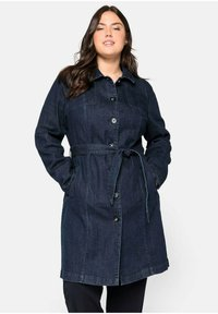 Sheego - Short coat - dark blue denim - 0