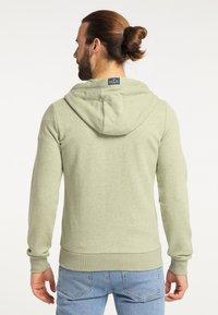 Schmuddelwedda - Zip-up sweatshirt - pastelloliv melange - 2