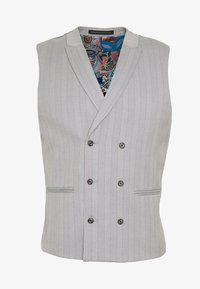 POLO BONE STRIPE COAT SKINNY - Gilet - light grey