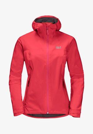 JWP SHELL - Waterproof jacket - tulip red