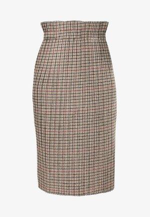 RENKLI - Pouzdrová sukně - beige
