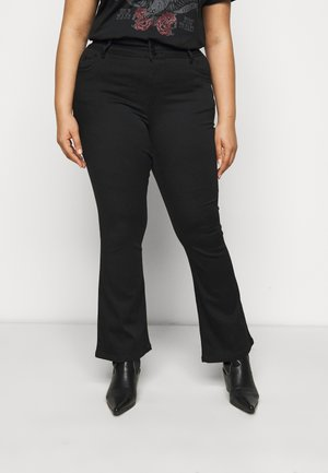 SHAPE AND SCULPT - Bootcut jeans - black