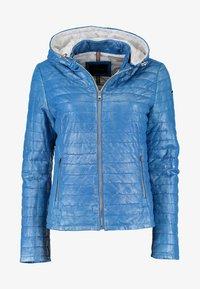 DNR Jackets - MIT KAPUZE - Leather jacket - blue - 0