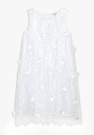 JUNIOR EMBROIDERED DRESS - Vestido de cóctel - black/white