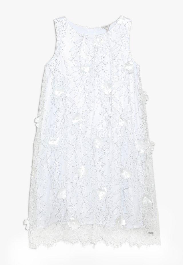 JUNIOR EMBROIDERED DRESS - Cocktailkleid/festliches Kleid - black/white
