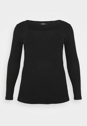 SQUARE NECK LONG SLEEVE  - T-shirt à manches longues - black