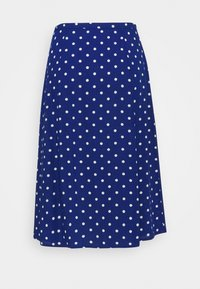 King Louie - JUNO BUTTON SKIRT PABLO - A-line skirt - midnight - 1