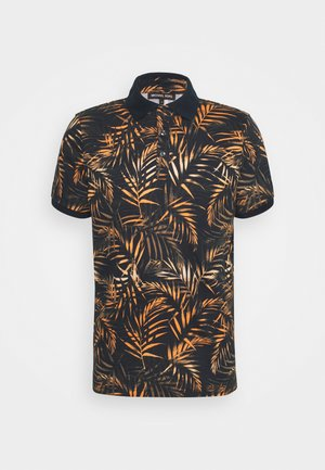 LEAF PRINTED - Polo shirt - dark blue