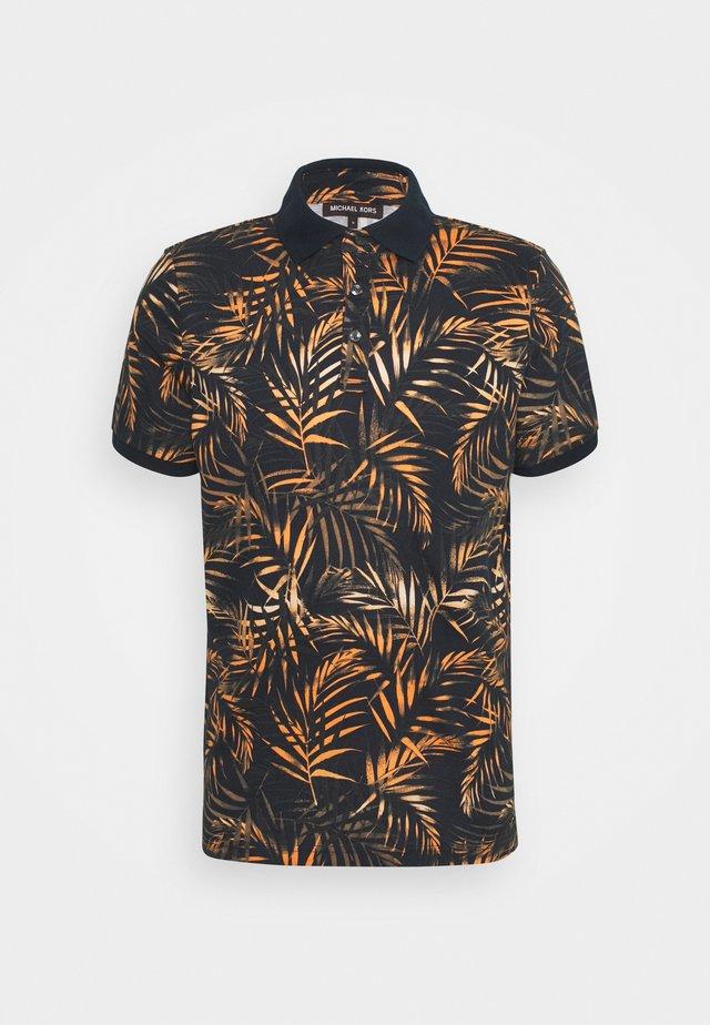 LEAF PRINTED - Polo shirt - dark blue