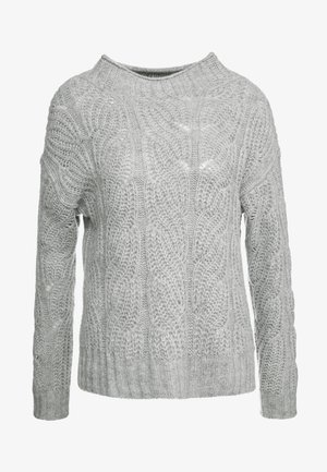 POINTELLE CABLE PULLOVER - Jumper - grey