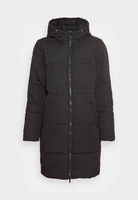 VILA PETITE - VITRUST  LONG JACKET - Winter coat - black - 3