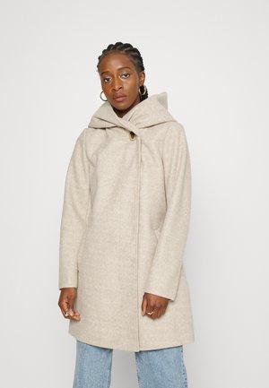 VICAMUA HIGH NECK COAT - Classic coat - natural melange