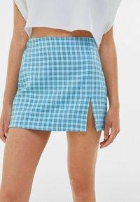 Bershka - A-line skirt - blue - 3