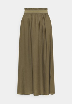 ONLVENEDIG PAPERBAG LONGSKIRT  - Maxi skirt - grape leaf