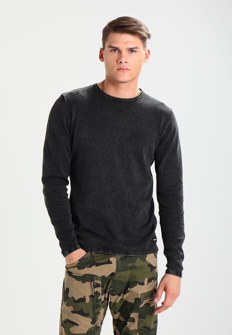 Only & Sons - ONSGARSON WASH CREW NECK - Stickad tröja - black