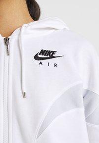 Nike Sportswear - AIR HOODIE - Zip-up sweatshirt - white/pure platinum/black - 5