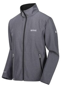Regatta - REGATTA CERA IV STRETCH SOFTSHELLJACKE HERREN WANDERJACKE OUTDOO - Soft shell jacket - sealgrey mar - 0