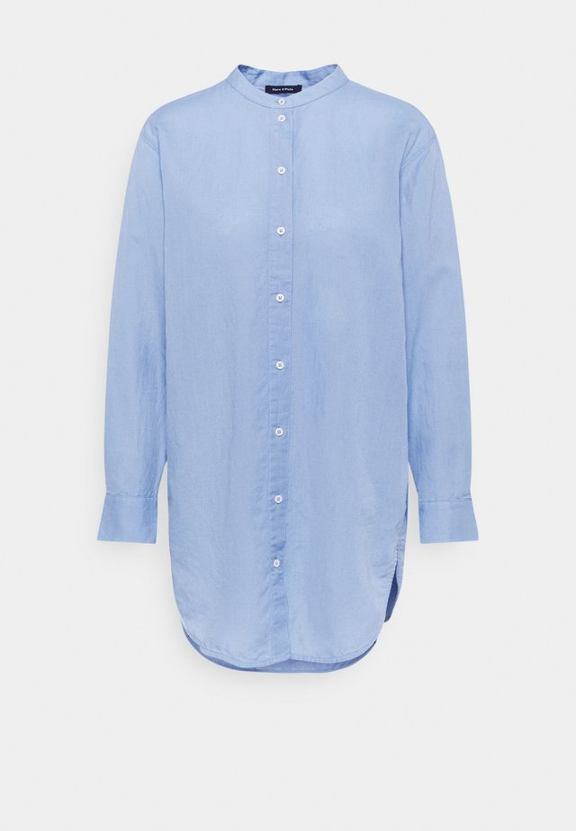 LONG SLEEVE BLOUSE STAND UP COLLA - Blůza - blue