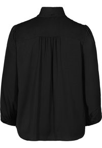 Zizzi - MIT BINDEDETAIL - Button-down blouse - black - 6