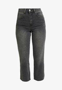 Cotton On - HIGH - Jeans Straight Leg - super wash black - 4