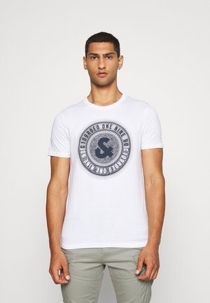 JCOLOGO-UNIVERSE TEE CREW NECK - T-shirt z nadrukiem - white