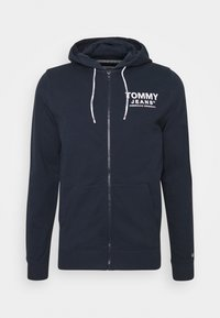 Tommy Jeans - ESSENTIAL GRAPHIC ZIPTHROUGH - Collegetakki - twilight navy - 4