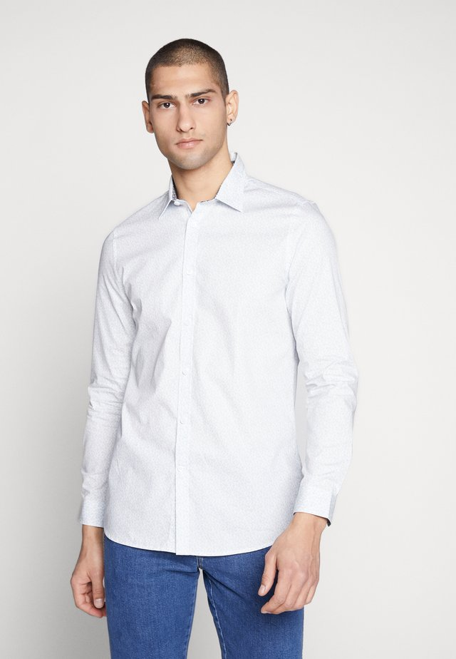 BLACKBURN TONAL DITSY LEAF - Shirt - mid blue