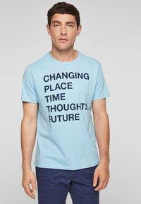 s.Oliver - Print T-shirt - light blue - 0