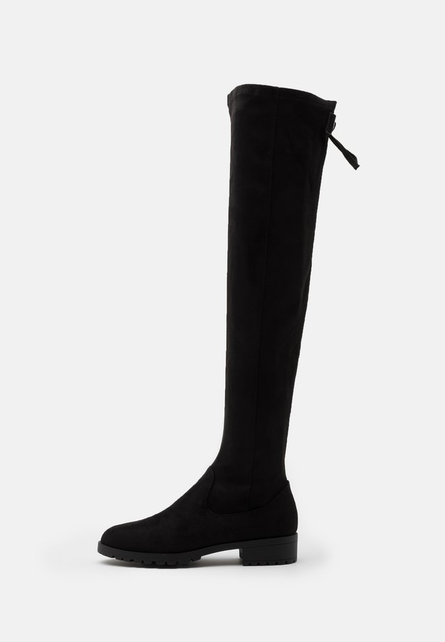 Overkneeskor - black
