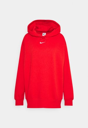 Hoodie - chile red/white